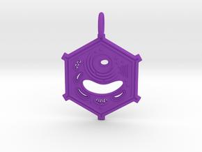 Plant Cell Pendant in Purple Processed Versatile Plastic