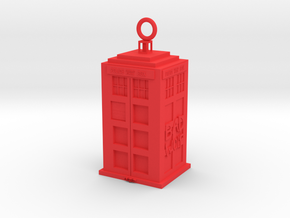 Tardis in Red Processed Versatile Plastic