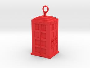 Tardis in Red Processed Versatile Plastic