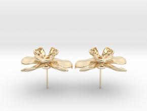 Orchid Earrings in 14K Yellow Gold