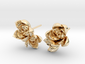 Succulent No. 2 Post Studs in 14K Yellow Gold