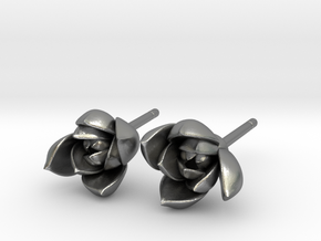 Succulent No. 1 Stud Earrings in Natural Silver