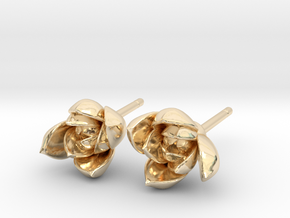 Succulent No. 1 Stud Earrings in 14k Gold Plated Brass
