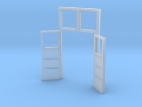 Red Barn Back Double Door Open - 72:1 Scale in Smooth Fine Detail Plastic