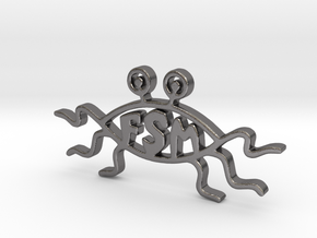 His Noodly Goodness Pastafarian Symbol  in Polished Nickel Steel