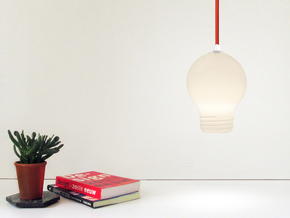 Upside Down Lamp in White Natural Versatile Plastic