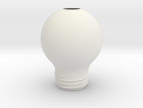 Upside Down Lamp SMALL in White Natural Versatile Plastic