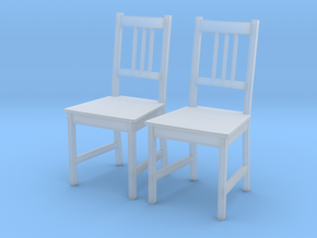 IKEA Stefan Chair Set of 2 in Smooth Fine Detail Plastic: 1:24