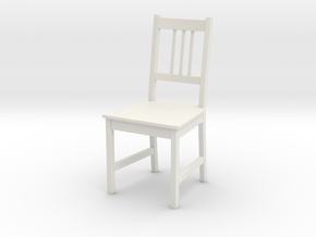 IKEA Stefan Chair in White Natural Versatile Plastic: 1:12