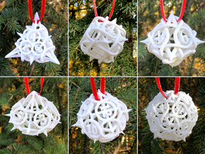 Thorn Dice Ornament Set in White Strong & Flexible