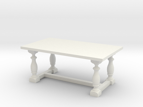 Table, Dining 1:48 in White Natural Versatile Plastic