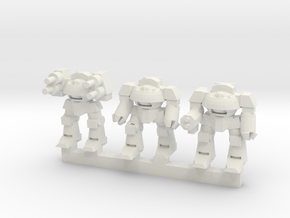 Super Soldier Walker Squadron in White Natural Versatile Plastic