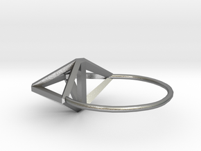Simplify (Amplituhedron Ring) in Natural Silver: 5 / 49