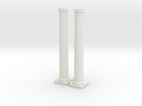 Doric Columns 2500mm high at 1:76 scale X 2  in White Strong & Flexible