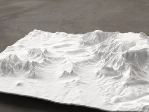 8'' Sedona Terrain Model, Arizona, USA in White Natural Versatile Plastic
