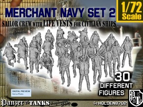 1/72 Merchant Navy Crew Set 2 in Smooth Fine Detail Plastic