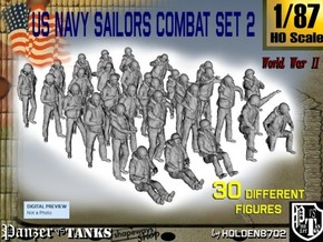 1/87 US Navy Sailors Combat SET 2 in Frosted Ultra Detail