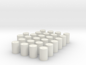 1/144 Depth Charge Set 26 Units in White Natural Versatile Plastic