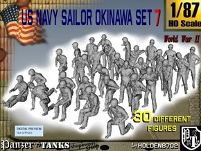 1/87 US Navy Okinawa Set 7 in Smooth Fine Detail Plastic