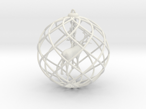 Xmas decoration » Elk in White Natural Versatile Plastic