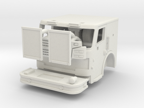1/64 Rosenbauer 2 man cab Chicago style in White Natural Versatile Plastic