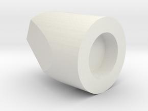 O Scale MU Cable End in White Natural Versatile Plastic