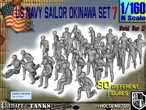 1/160 US Navy Okinawa Set 7 in Smooth Fine Detail Plastic