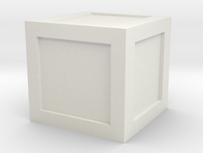 1:48 Wooden Crate in White Natural Versatile Plastic