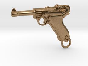 Luger Gun in Natural Brass