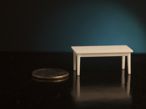 1:48 School Table in White Natural Versatile Plastic