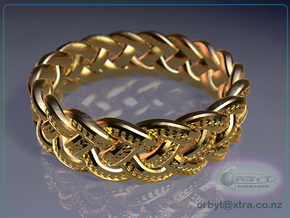 Celtic Knot Ring ~ size 9.5 (0.764 inch diameter) in 14K Yellow Gold
