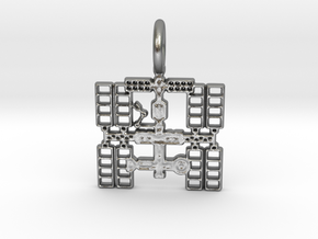 Space Station Pendant in Natural Silver