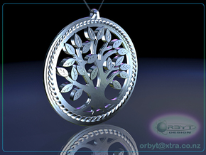 DNA/Tree Of Life Pendant ~ 45mm in Polished Silver