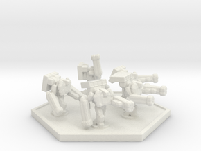 UWN Army Support Trooper (Hex) in White Natural Versatile Plastic