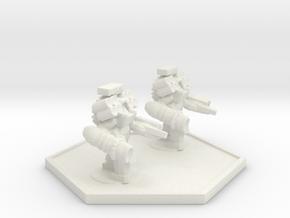 UWN Army Devistator Suit Team in White Natural Versatile Plastic