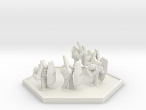 UWN Peacekeeper Riot Control Squad (Hex) in White Natural Versatile Plastic