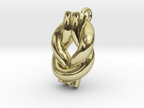 Knot Of Hercules Earring in 18k Gold Plated Brass