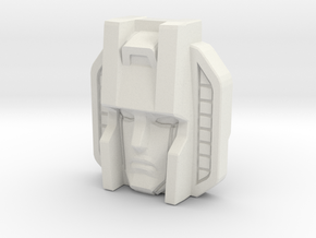 Skywarp Face, Sunbow (Titans Return) in White Natural Versatile Plastic