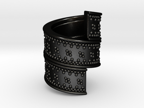 Beard Ring in Matte Black Steel