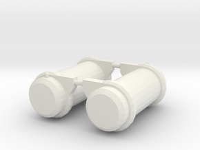 1/64 Peterbuilt Fuel Tanks in White Natural Versatile Plastic