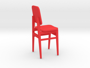 Miniature Chair in Red Processed Versatile Plastic