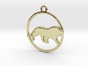 Leo Zodiac Pendant in 18k Gold Plated Brass