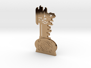 Thir13en Ghosts Brass Key Replica Prop in Polished Brass