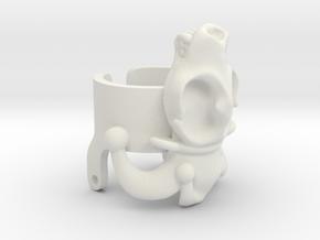 Jester Hyena Skull Ring Part 2  in White Natural Versatile Plastic