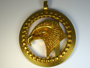 Eagle . The Thunder Bird. in Polished Brass