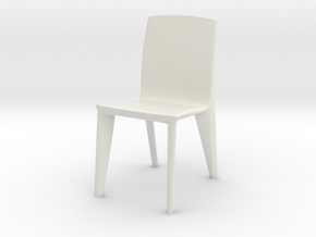 1:24 Dagger Chair 4 (Not Full Size) in White Natural Versatile Plastic