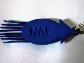 Personalized Squid Keychain in Blue Processed Versatile Plastic