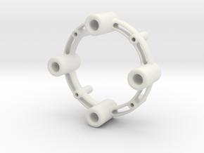 Stacking Circle in White Natural Versatile Plastic