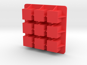 Ice-cube-3x3 in Red Strong & Flexible Polished