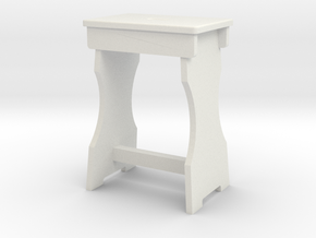 Shop Stool in White Natural Versatile Plastic: 1:13.71